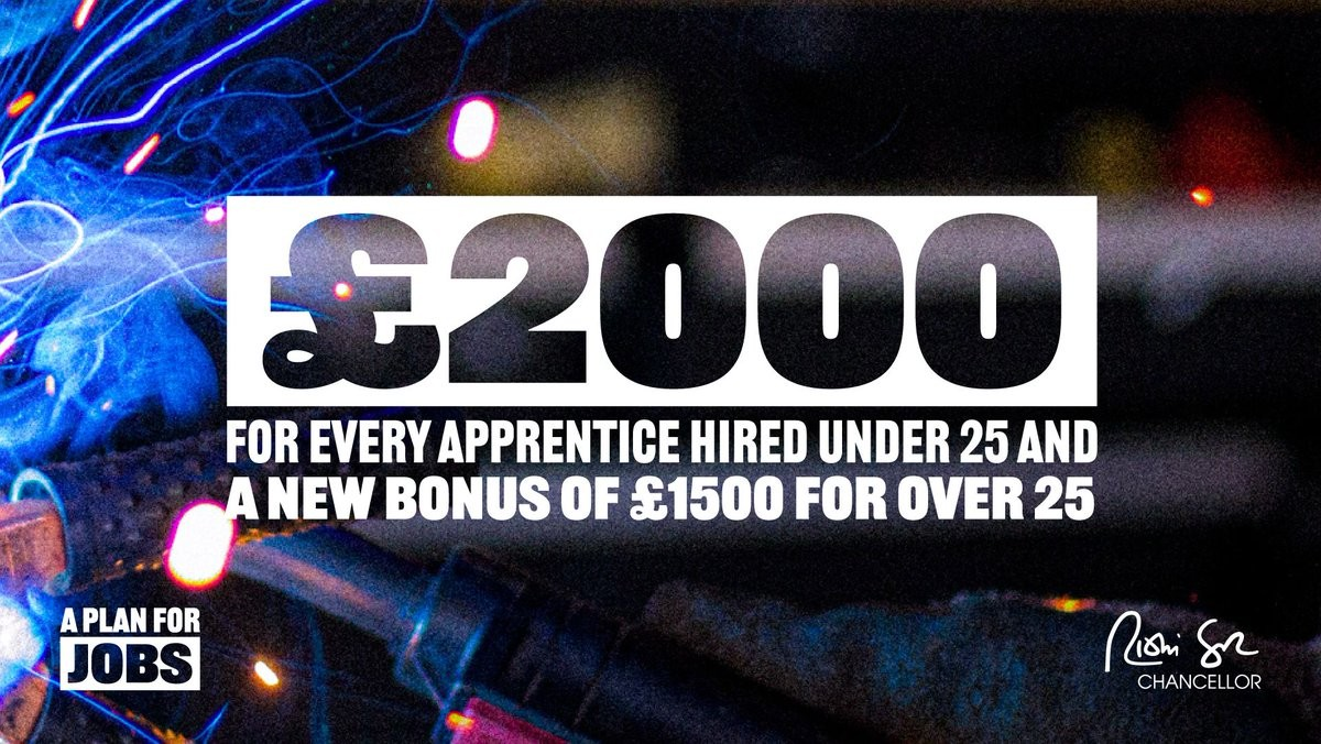 New bonus for employers to recruit apprentices