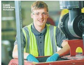 Portakbin Apprentice, Sam in Daily Mirror with GCSE Advice