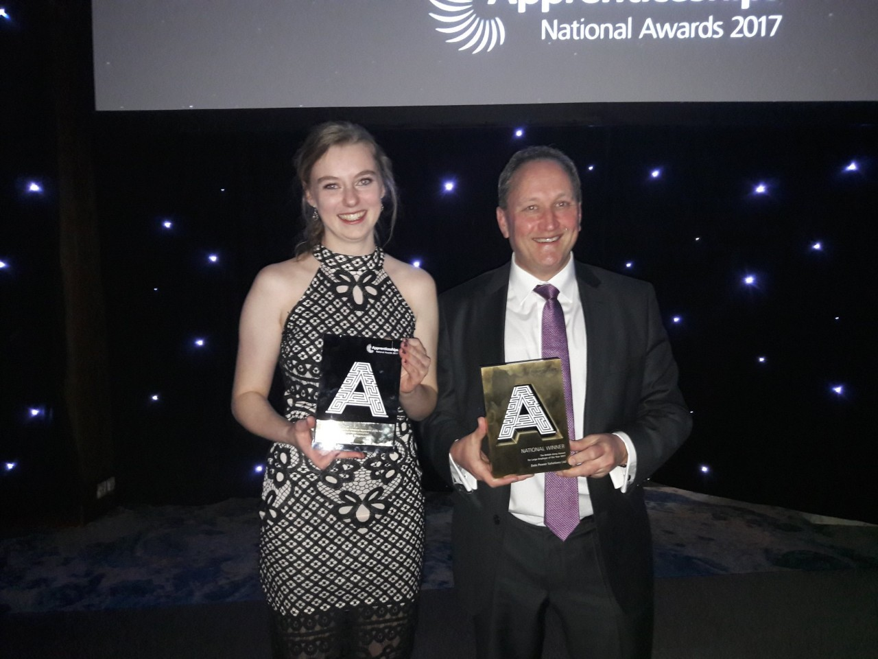Double success for Dale Power Solutions at National Apprenticeship Awards 2017