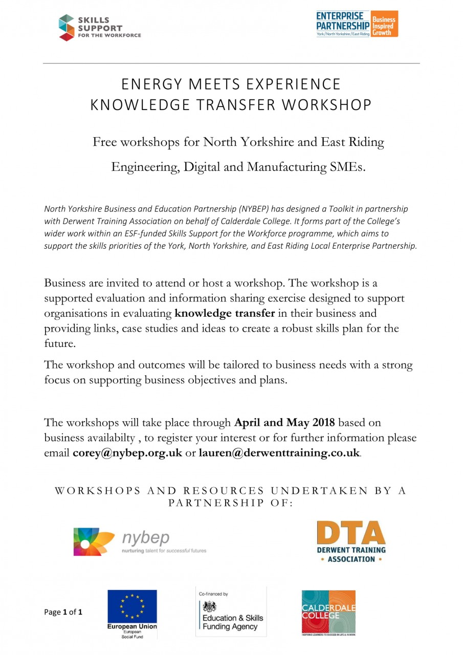 Energy Meets Experience Knowledge Transfer Workshop