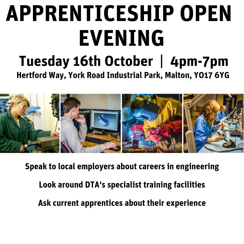 Apprenticeship Open Evening | Tuesday 16th October