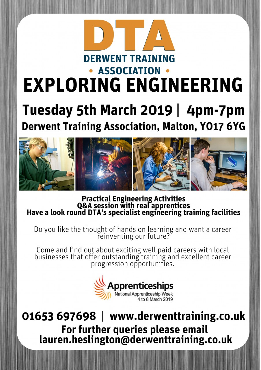 Exploring Engineering Event | Tuesday 5th March | 4pm-7pm