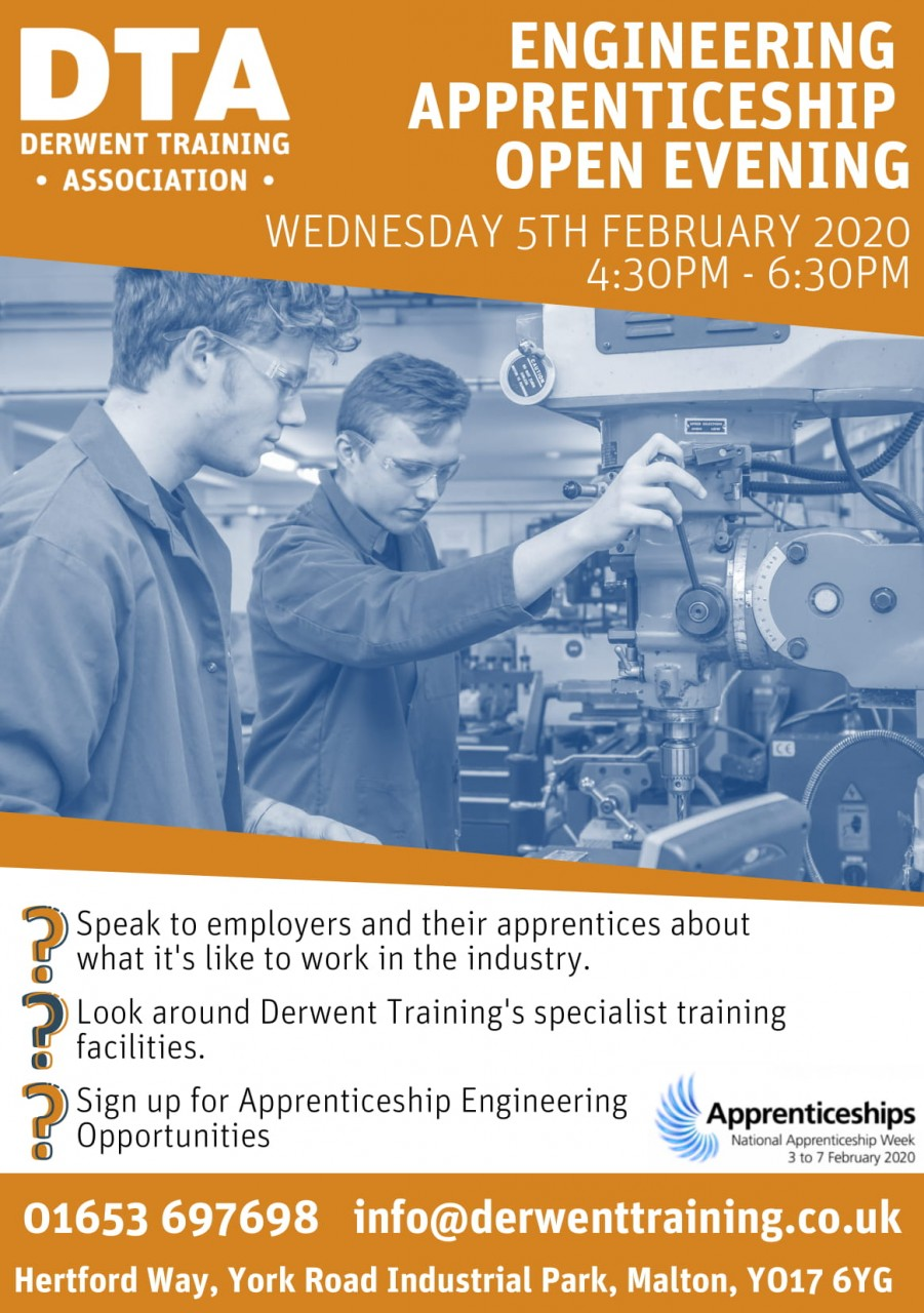 Open Evening to support National Apprenticeship Week